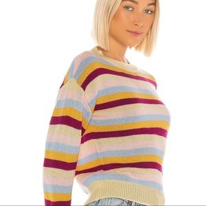 NWT Revolve/Tularosa colorful stripe crop sweater